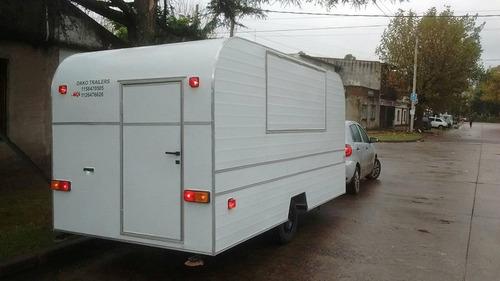 trailer gastronomico de 4 metros (full trak) dako trailers