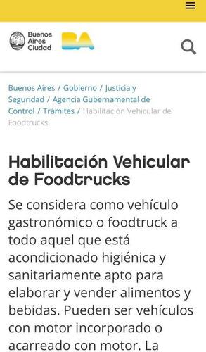 trailer gastronómico foodtruck patentado de fábrica c/ lcm