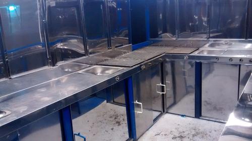 trailer gastronomico/food truck,de acer. inox. de 5 mts
