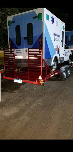 trailer homologado porta vehículo doble eje ram