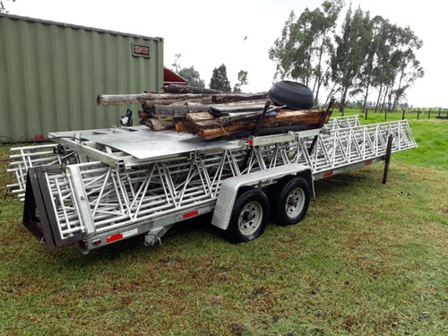 trailer importado aluma tower con torre de aluminio