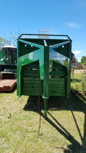 trailer jaula cigueñatecnar mod tcjm4500 patent p/4 t 4.5 mt