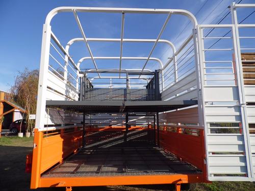 trailer jaula doble piso iva incluido cerdos vacas ovejas