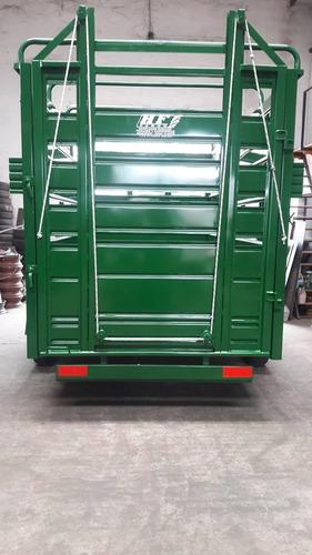 trailer jaula marca tecnar mod tjm3000 p/3 ton multiuso nuev