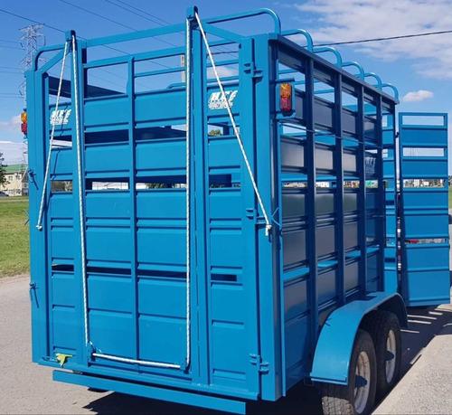 trailer jaula tecnar mod tjm3500 patentable p/4 ton 3.5 mts