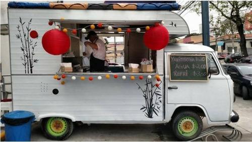 trailer kombi food truck completo, pronto para rodar - 1993