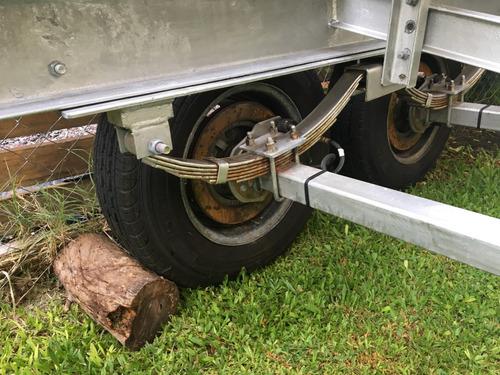 trailer mactrail 24 pies con freno patentado- permuto