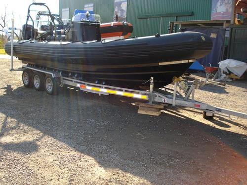 trailer mactrail cuatri + moto de agua con freno