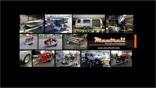 trailer mactrail lancha 18 pies con freno rodillos con lcm