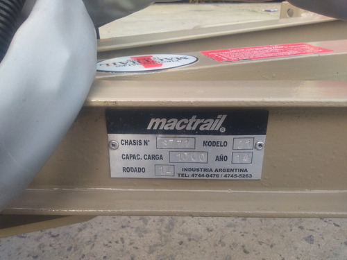 tráiler mactrail para 2 cuatriciclos y alutrail para 1