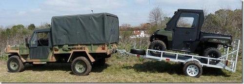 trailer mactrail para semirigido de 16 pies, cama madera