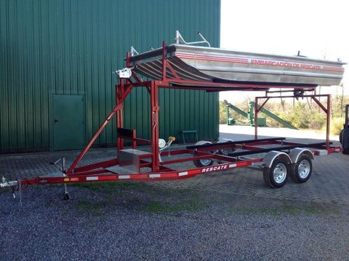 trailer mactrail, semirigido 14 pies cama madera, homologado