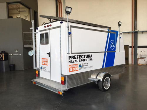 trailer mactrail unidad de vigilancia posta policial