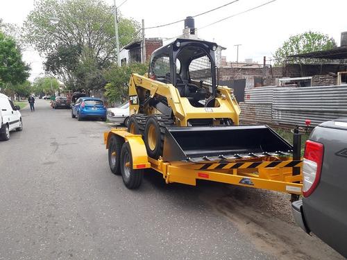 trailer minicargadora minipala bobcat cat carreton financio