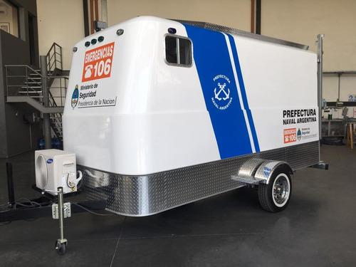 trailer monterrey 100 l full con freno completo