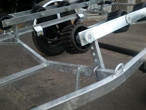 trailer nautico 3.30 con cama de rodillos galvanizado