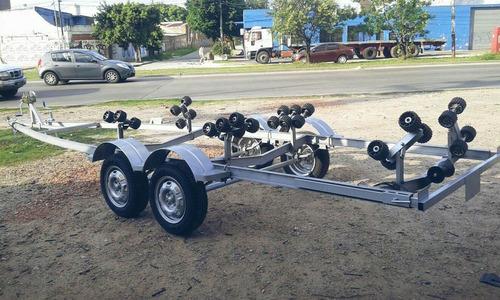 trailer nautico para semirrigido o lancha de 21 pies