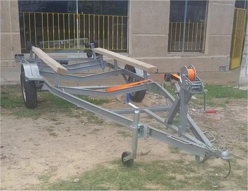 trailer nautico para trucker, semirrigido de 5.60 mts