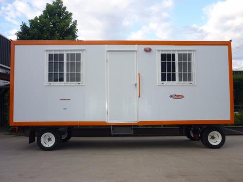 trailer oficina movil casilla obrador om600 financiada