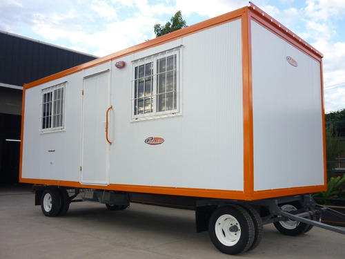 trailer oficina movil casilla obrador sanitario y kitchen