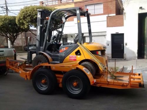 trailer p/ autoelevador minicargadora retro tijera hidraulic