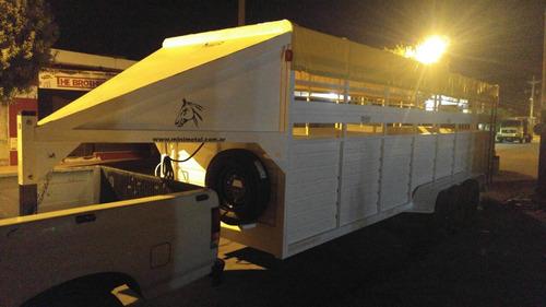 trailer para 14 equinos enganche cuello cigüeña