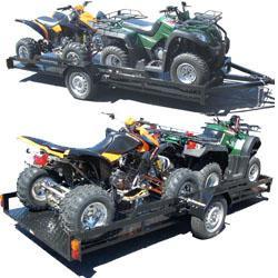 trailer para 2 cuatriciclos el mas seguro es marca trak