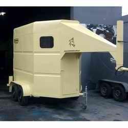 trailer para 2 equinos enganche cuello cigüeña