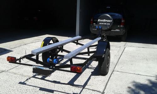 trailer para canobote, casi nuevo! rodado 13 nuevo