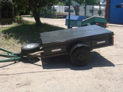 trailer para carga con tapas usado en buen estado
