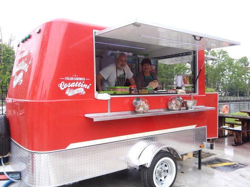 trailer para comida rápida con freno completo
