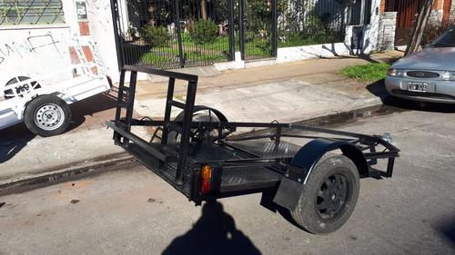 trailer para cuatriciclo reforzado con chasis de upn nuevo