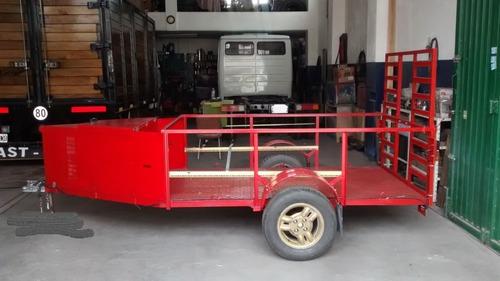 trailer para cuatriciclo tipo batan con baulera