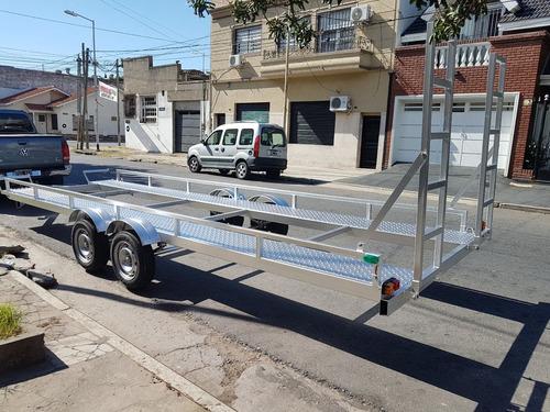 trailer para cuatriciclo utv moto en perfil upn