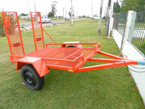 trailer para cuatriciclos motos o tractores zanella 250
