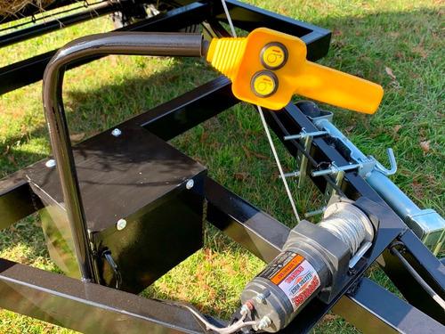 trailer para fardos transportador y desenrollador homologado
