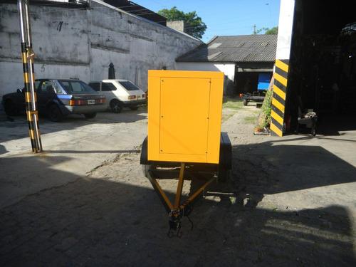 trailer  para grupos electrogenos 1600 kg ( 2 ejes) en 3dias
