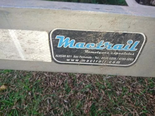 trailer para lancha 20 y 21 pies mac trail