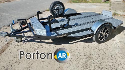 trailer para motos , cuatriciclos, basculante batea