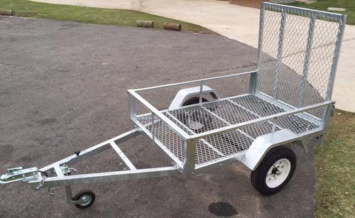 trailer para motos y cuatriciclos - rejilla - galvanizado