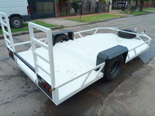 trailer para utv grande con freno (lcm) patentable