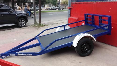 trailer playo para cuatriciclo y/o moto con rampa