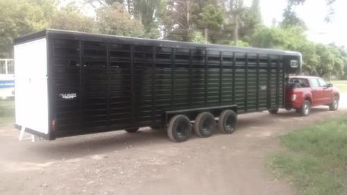 trailer polero para 12 caballos triple eje