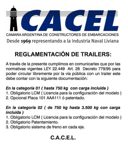 trailer porta auto, doble eje con freno