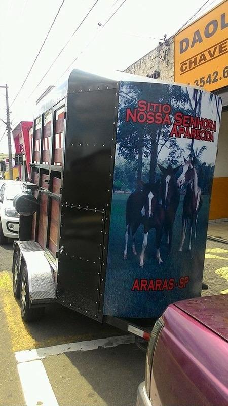 trailer reboque cavalos top linha