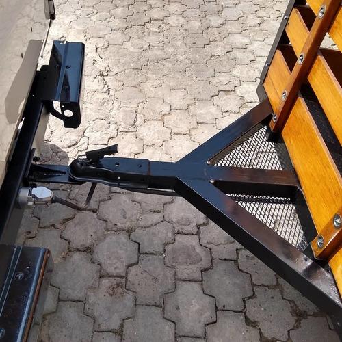 tráiler remolque para carga y moto o cuatrimoto, 2 en 1
