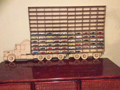 trailer repisas exhibidor coleccionador carros hot wheels