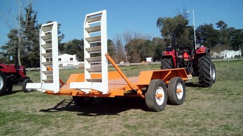 trailer sistema balancín mauro ideal minipala o autoelevador