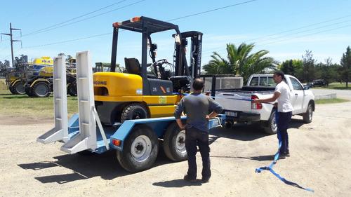 trailer tecnar mod tmp4000 p/ minicargadora p/ autoelevador