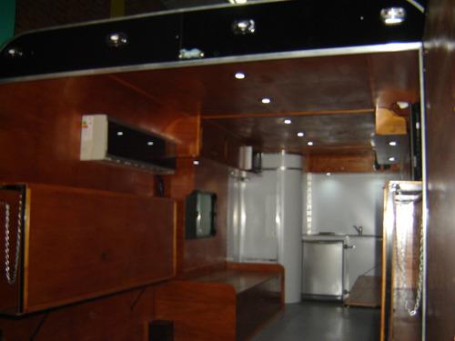 trailer tipo americano de carga, casa rodante